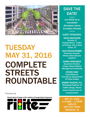 RIITE Complete Streets Roundtable Save The Date Flyer thumbnail